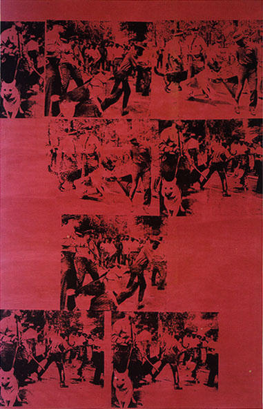 famous painting Race Riot Red of Andy Warhol