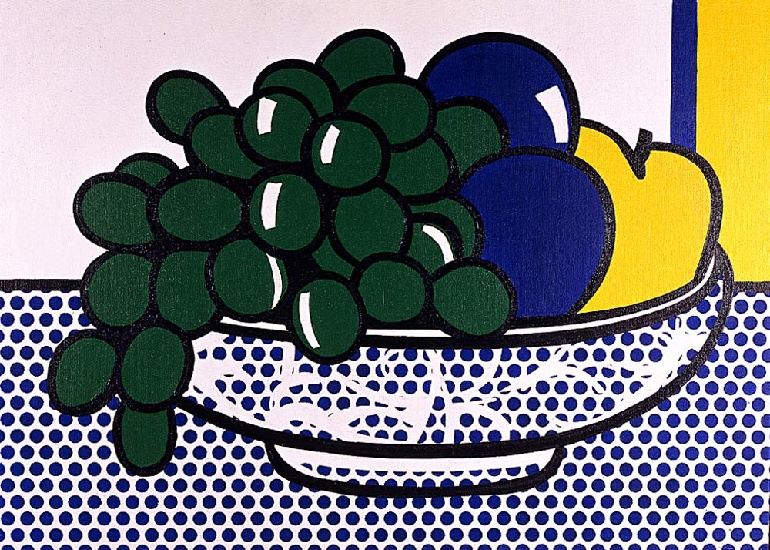 famous painting Natura morta con prugne of Roy Lichtenstein