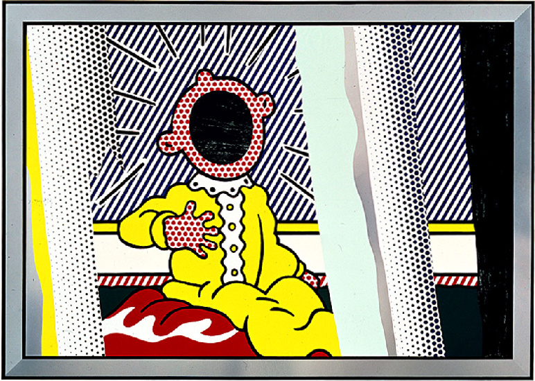 famous painting riflessioni sul urlare of Roy Lichtenstein