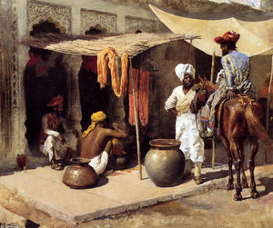Edwin Lord Weeks - All esterno un Dye House Indian