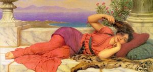 John William Godward - Noonday Riposo