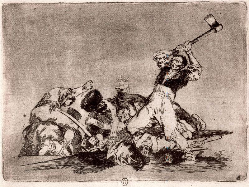 famous painting Lo mismo of Francisco De Goya