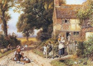 Myles Birket Foster - The China Peddler