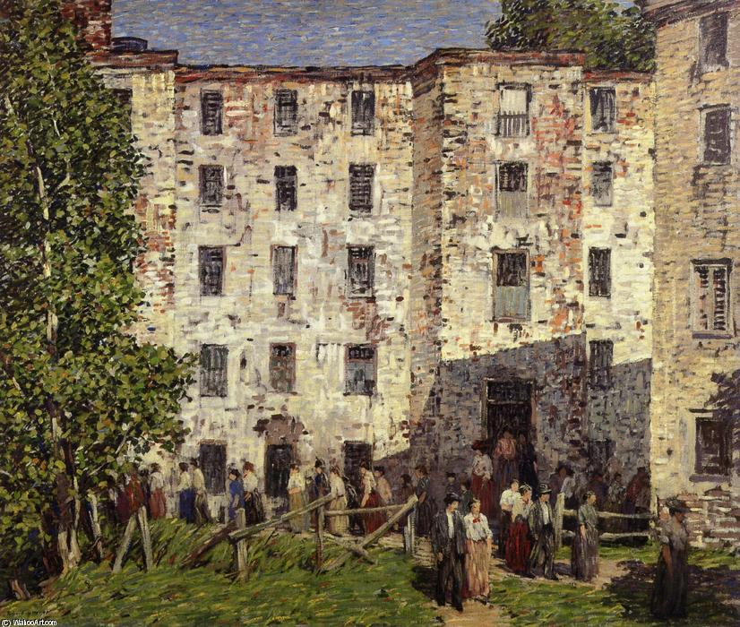 famous painting L orario di chiusura of Robert Spencer