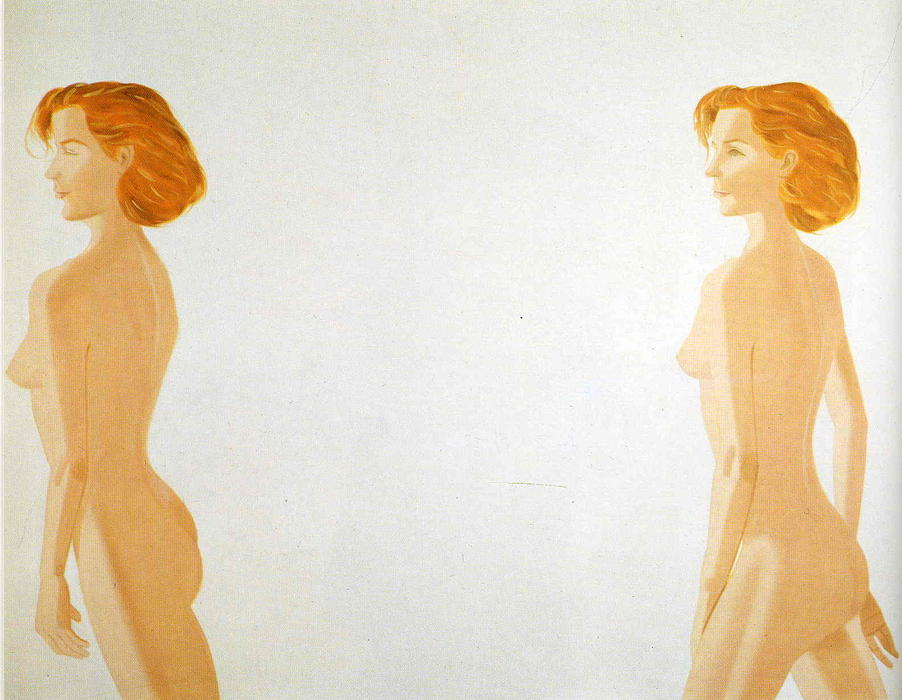 famous painting Nudo rosso of Alex Katz