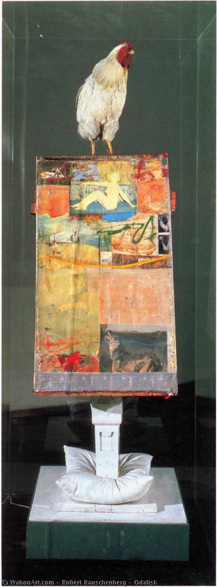 famous painting Odalisk of Robert Rauschenberg