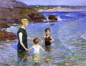 Edward Henry Potthast - Estate Camminare nell acqua