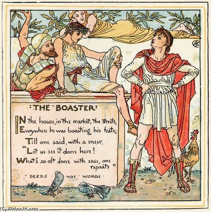 famous painting Il Boaster of Walter Crane