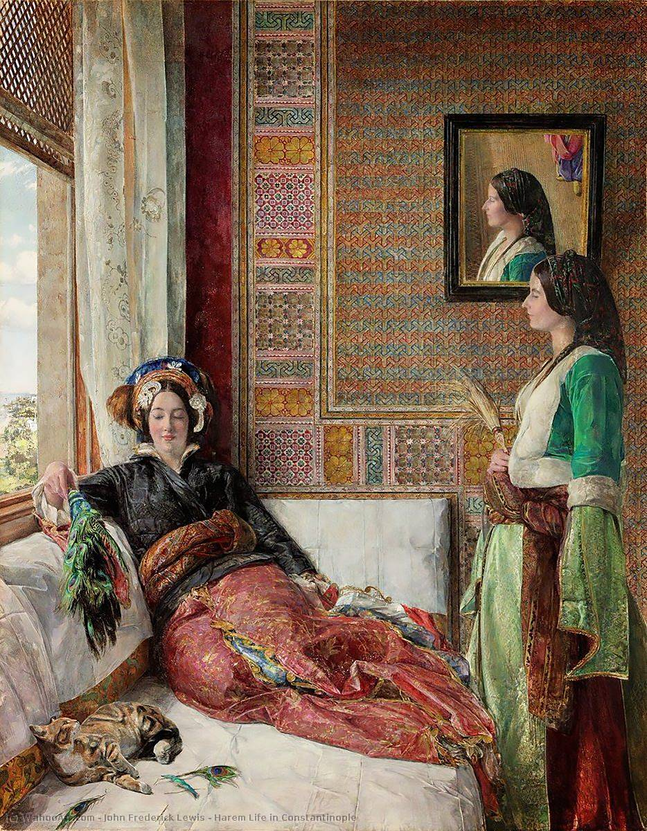famous painting Harem vita a Costantinopoli of John Frederick Lewis