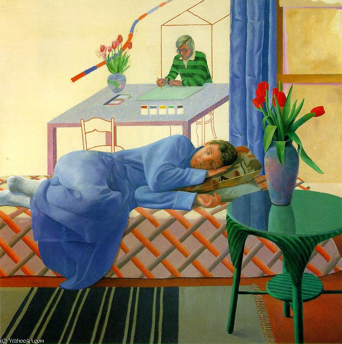 famous painting incompiuta da sé  of David Hockney