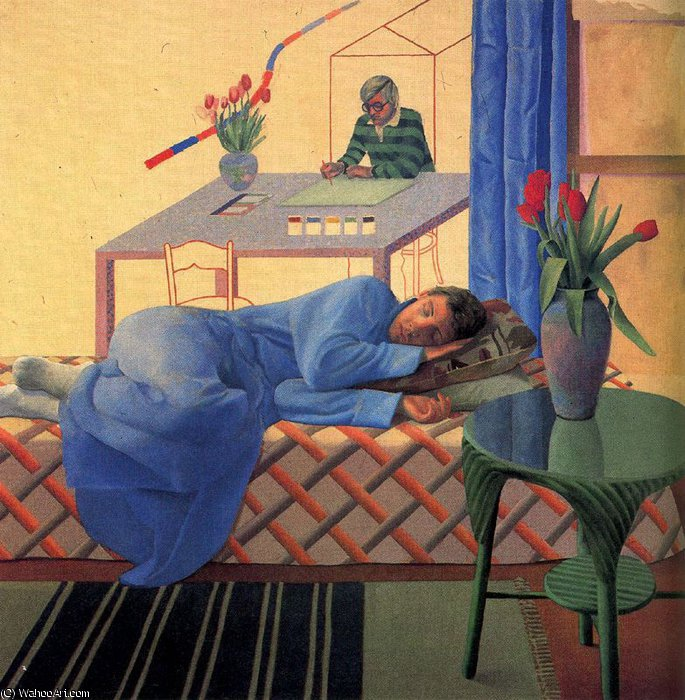 famous painting senza titolo 828   of David Hockney