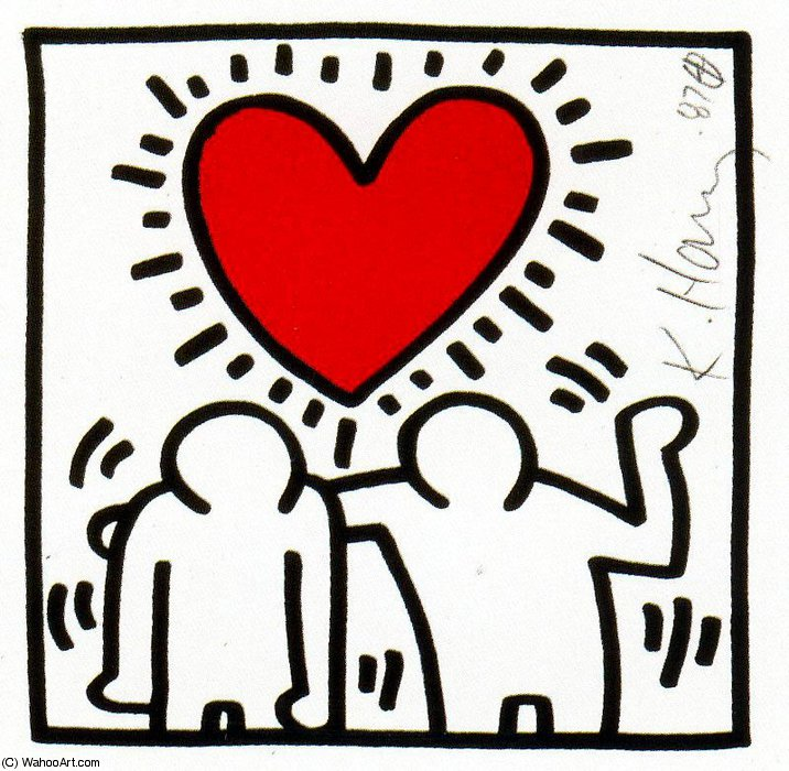 famous painting senza titolo 434   of Keith Haring
