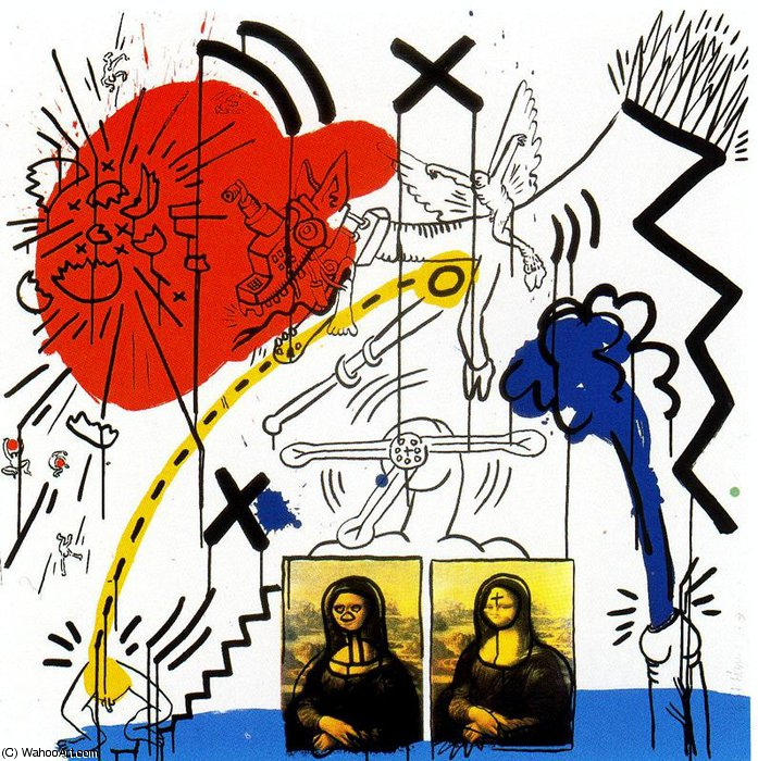 famous painting senza titolo 901   of Keith Haring