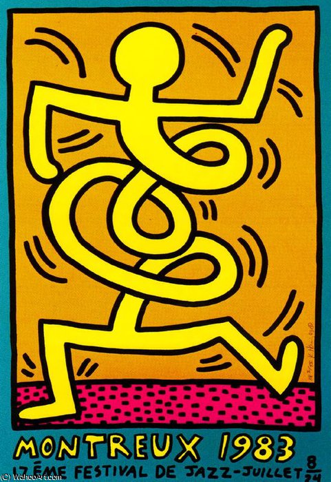 famous painting senza titolo 163   of Keith Haring