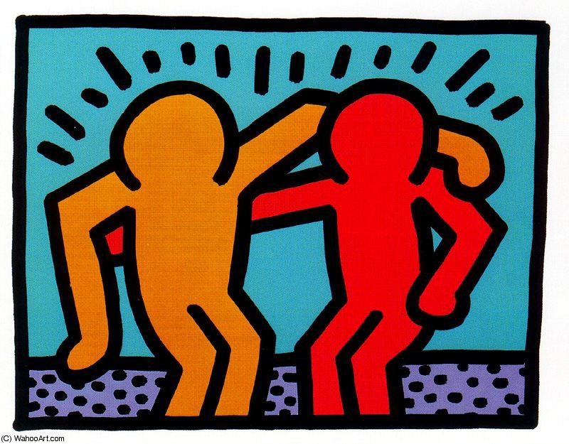 famous painting senza titolo 283   of Keith Haring