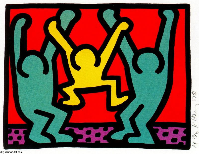 famous painting senza titolo 785   of Keith Haring