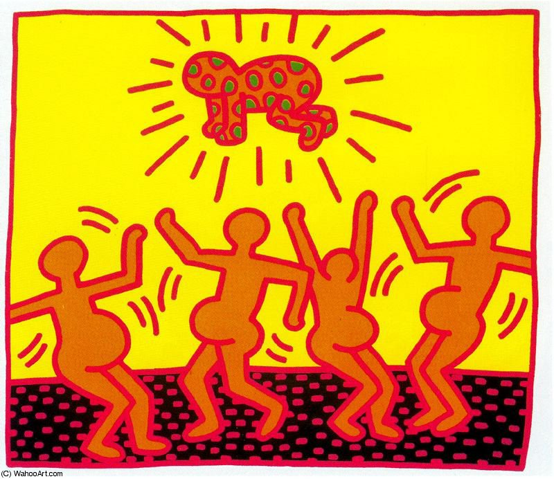 famous painting senza titolo 701   of Keith Haring