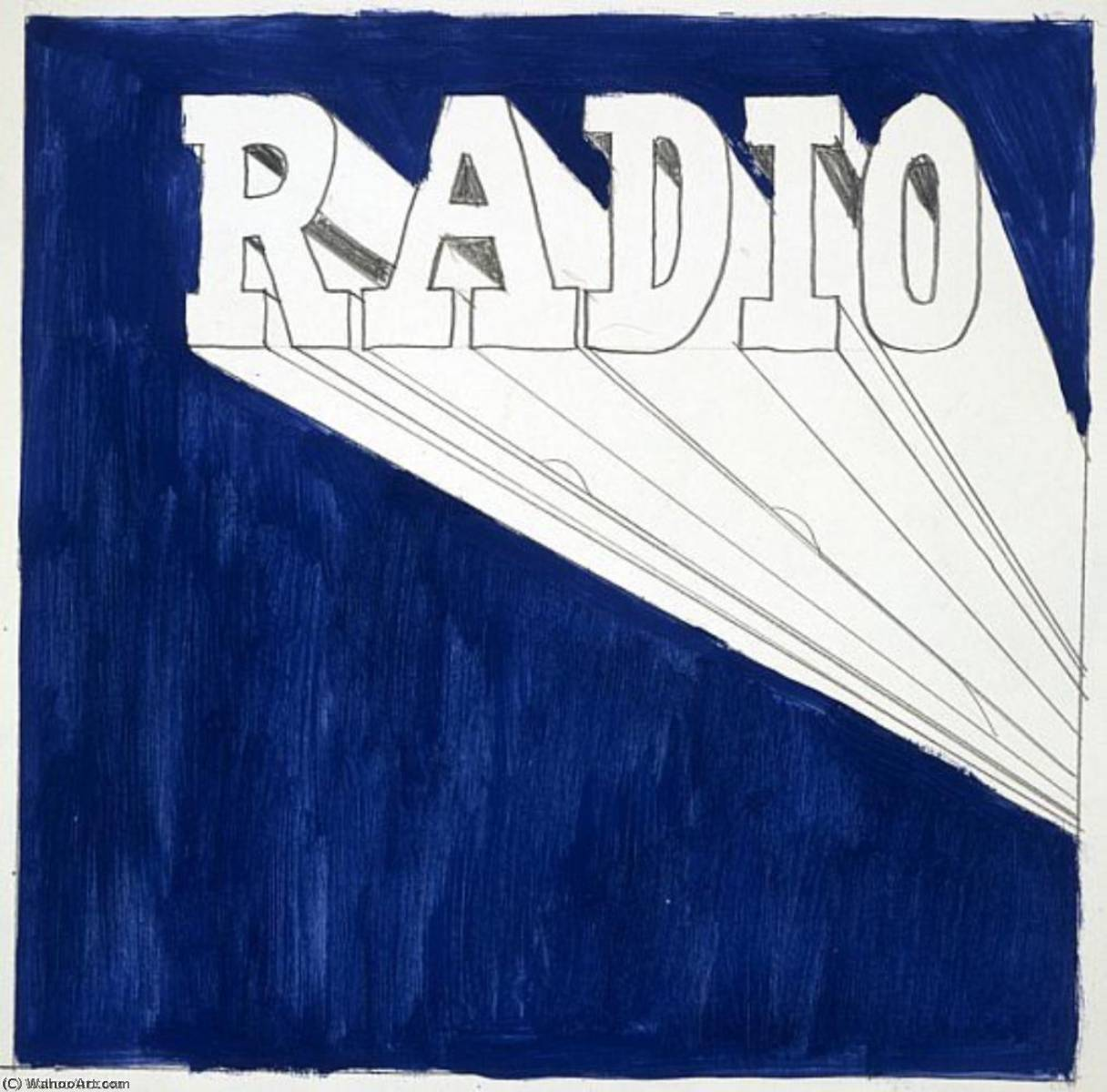 famous painting Radio of Edward Ruscha