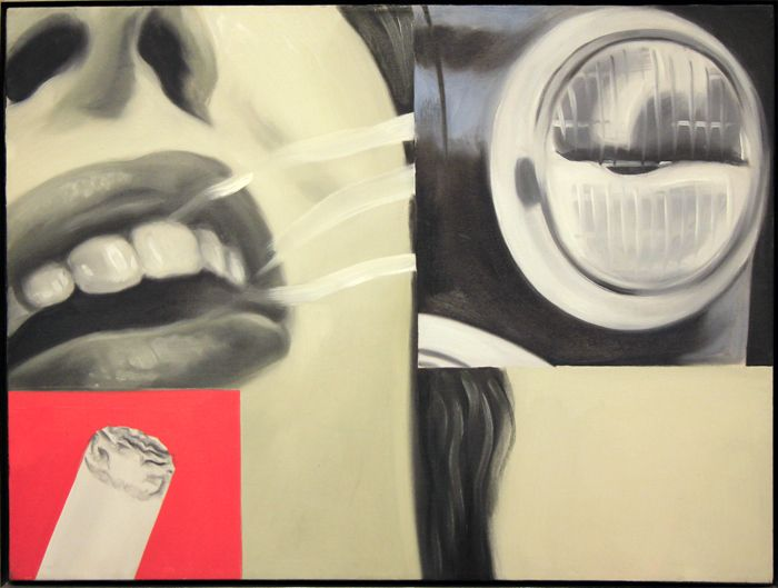 famous painting Affumicato dei  of James Rosenquist