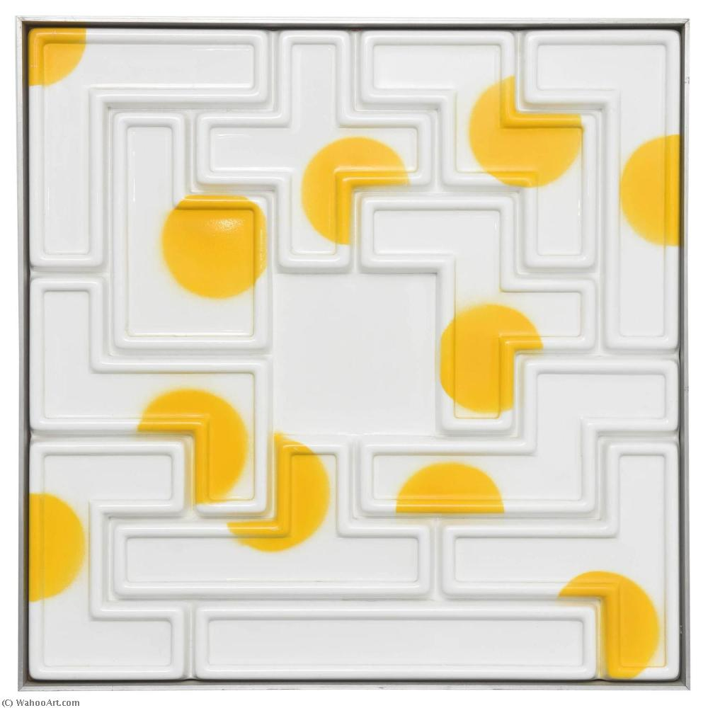 famous painting Pentomino of Joe Tilson