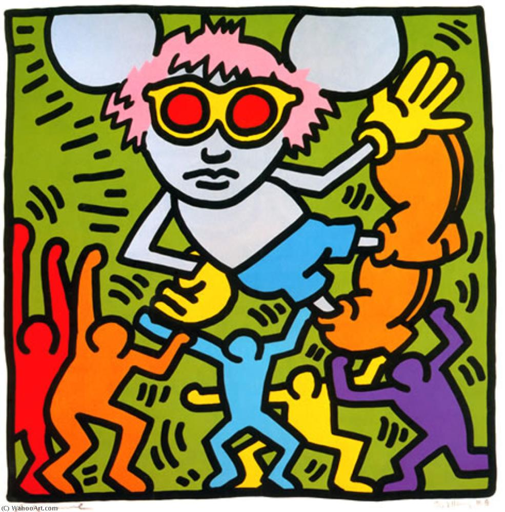 famous painting Andy sorcio ( 2 ) of Keith Haring