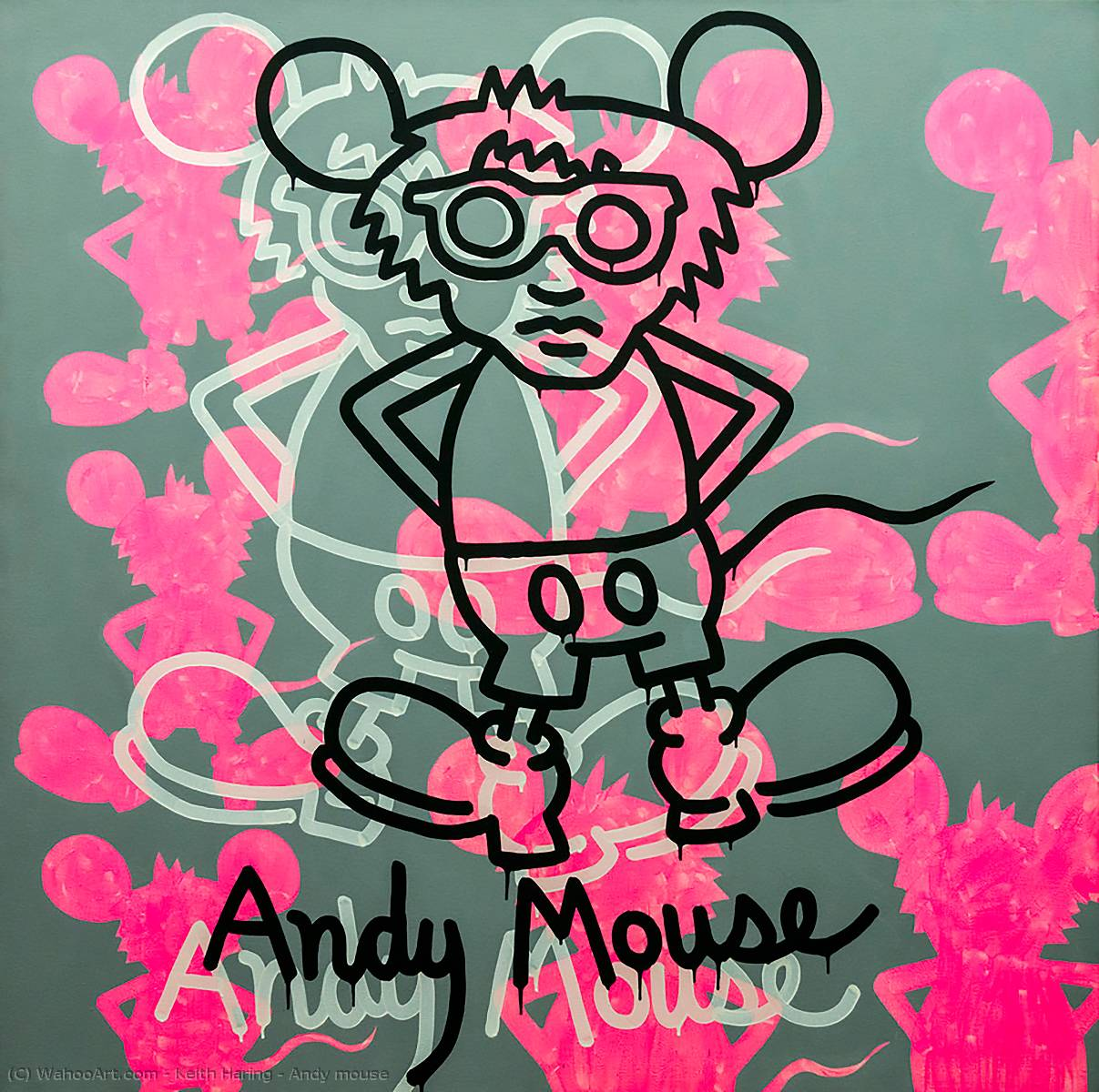 famous painting Andy sorcio of Keith Haring