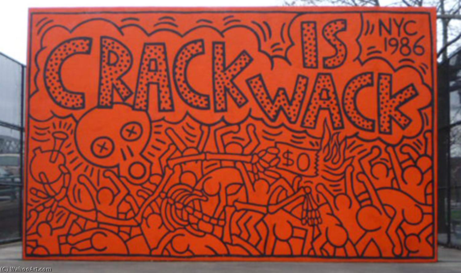 famous painting Crepa è wack of Keith Haring