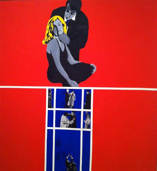 famous painting amore e violenza  of Rosalyn Drexler