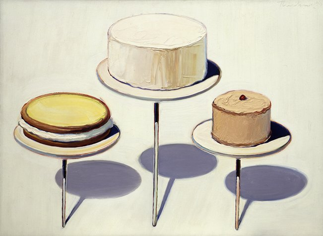 famous painting visualizzare Torta  of Wayne Thiebaud