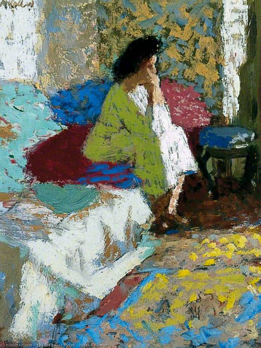 famous painting Pensieroso donna  of Charles James Mccall